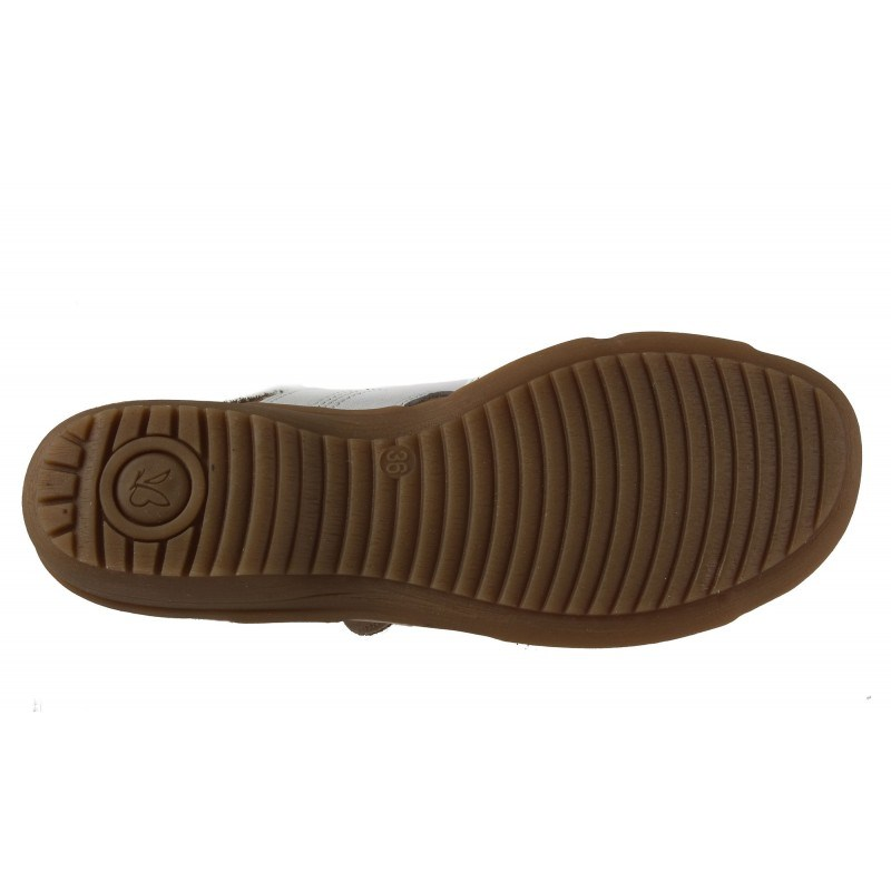 Дамски кожени анатомични сандали Caprice бели