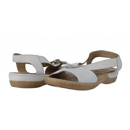 Дамски сандали на равно ходило Caprice бели