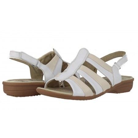 Дамски равни сандали Caprice бежови/розови
