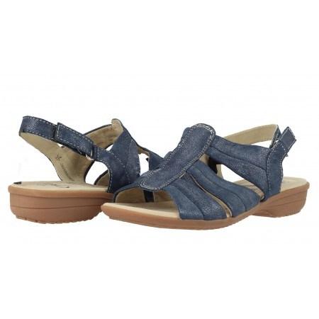 Дамски равни сандали Caprice син металик