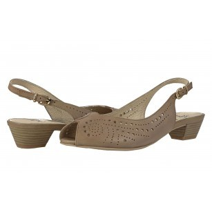 Дамски ниски сандали естествена кожа Caprice бежови