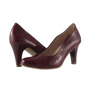 Дамски лачени обувки на висок ток Caprice бордо 22406505