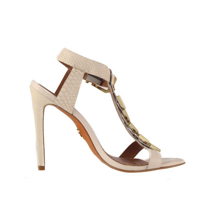Елегантни дамски сандали на висок ток Carrano бели