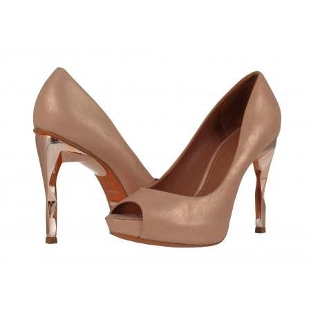 Елегантни дамски обувки естествена кожа Carrano бронз/розови