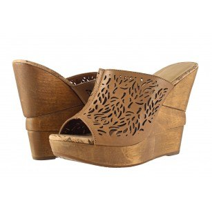 Дамски елегантни обувки на платформа Carrano кафяви 26501