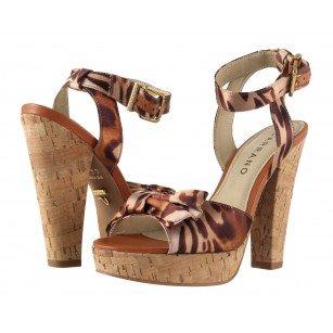 Дамски елегантни обувки на ток Carrano комби 34901