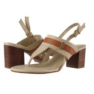 Дамски обувки на ток Carrano бежови 65504