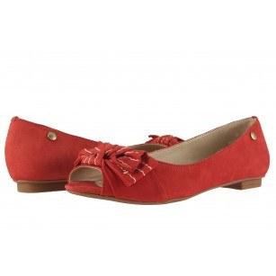 Дамски елегантни обувки равно ходило Carrano червени 692236