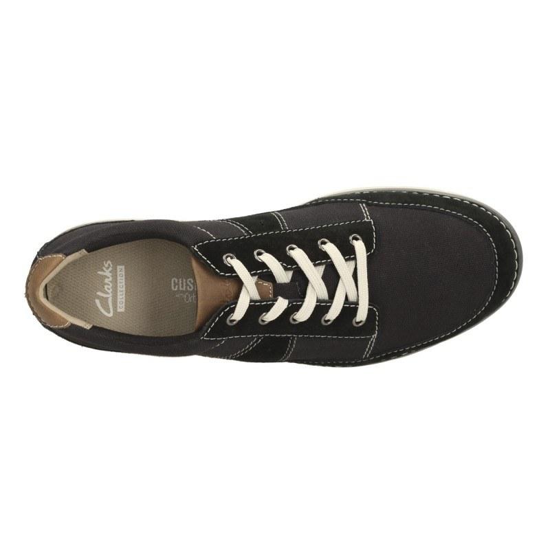 Мъжки обувки с връзки Clarks черни Ripton Plain 26114178