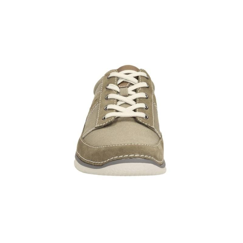 Мъжки обувки с връзки Clarks бежови Ripton Plain