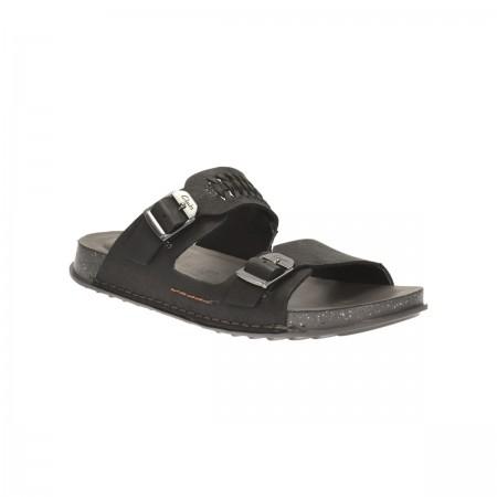 Мъжки анатомични чехли от естествена кожа Clarks Keften Free черни