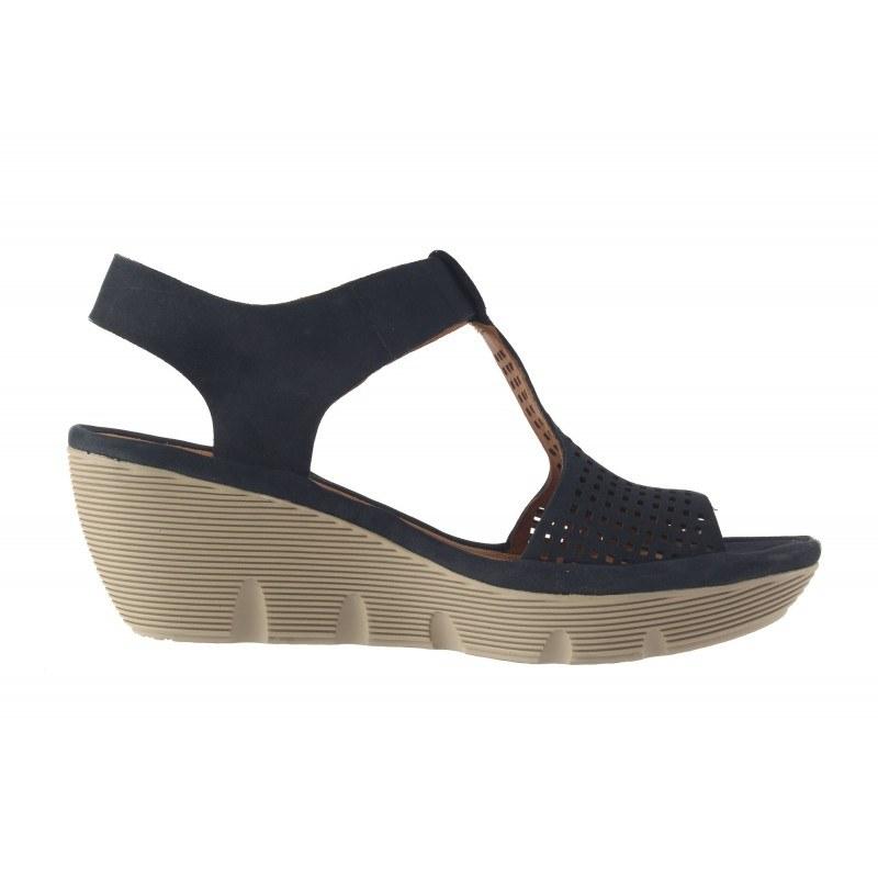 Дамски сандали на платформа Clarks Clarene Diva сини
