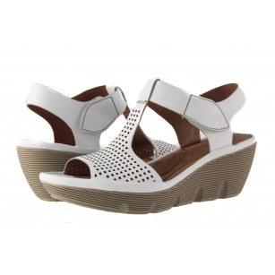 Дамски сандали на платформа Clarks Clarene Diva бели