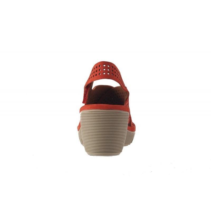 Дамски сандали на платформа Clarks Clarene Award червени