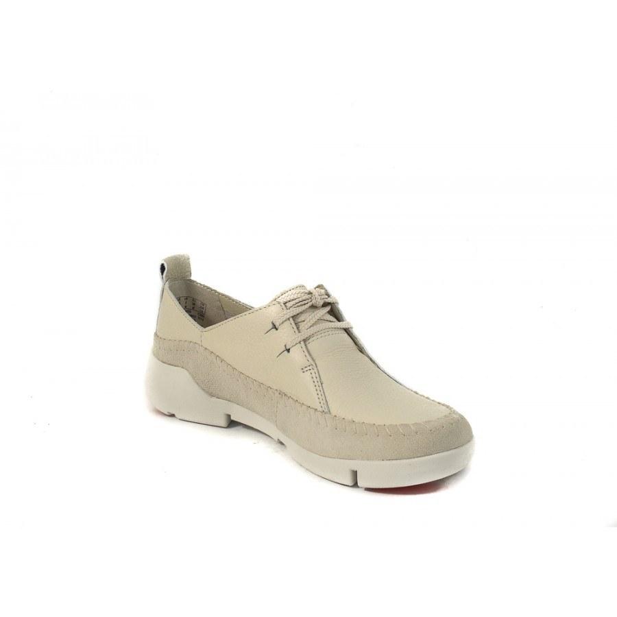 43c1d8b746b ✓ Дамски спортно-ежедневни обувки Clarks Tri Angel бели — Компас