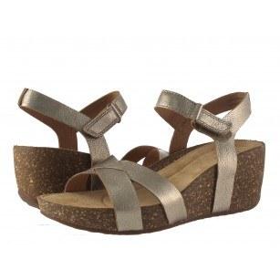 Дамски кожени сандали на платформа Clarks Temira Compass