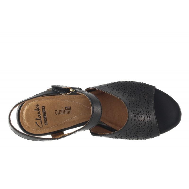 Дамски сандали на висока платформа Clarks черни Zia Graze