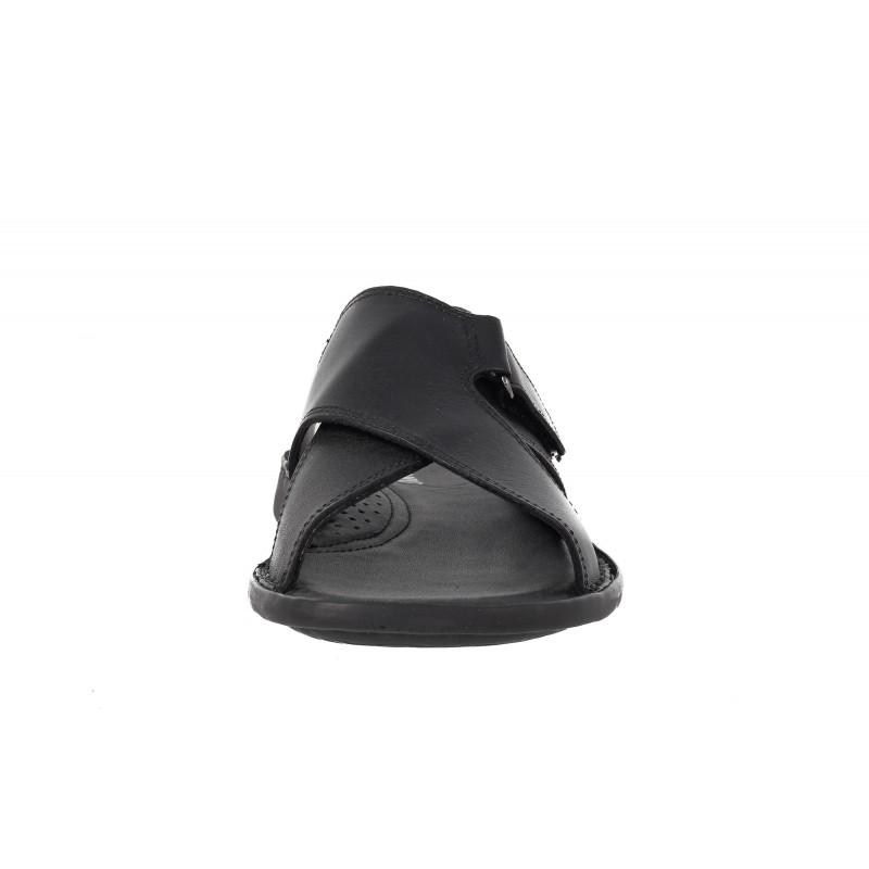 Мъжки чехли от естествена кожа Comyp черни