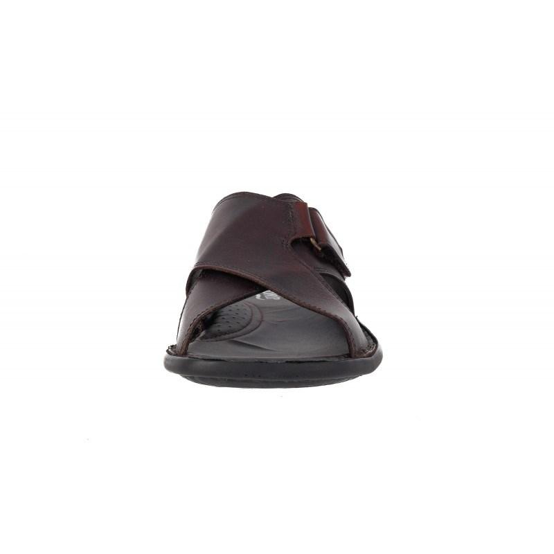 Мъжки чехли от естествена кожа Comyp кафяви 5419