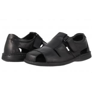 Мъжки сандали от естествена кожа Comyp черни