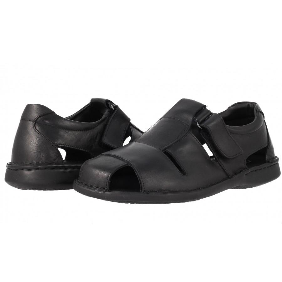41bbd221da8 ✓ Мъжки сандали от естествена кожа Comyp черни — Компас