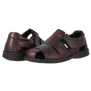 Мъжки сандали от естествена кожа Comyp кафяви