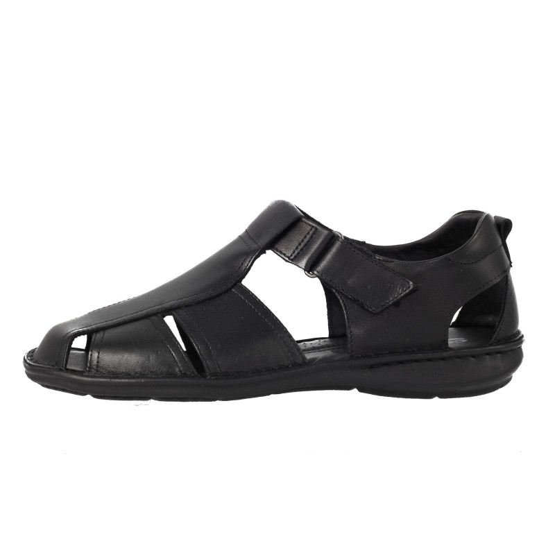 Мъжки сандали от естествена кожа Comyp черни 8034