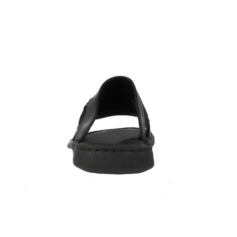 Мъжки чехли от естествена кожа Comyp черни 8789