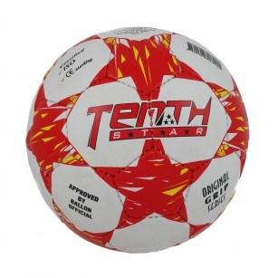 Футболна топка Tenth Star бяла/червена