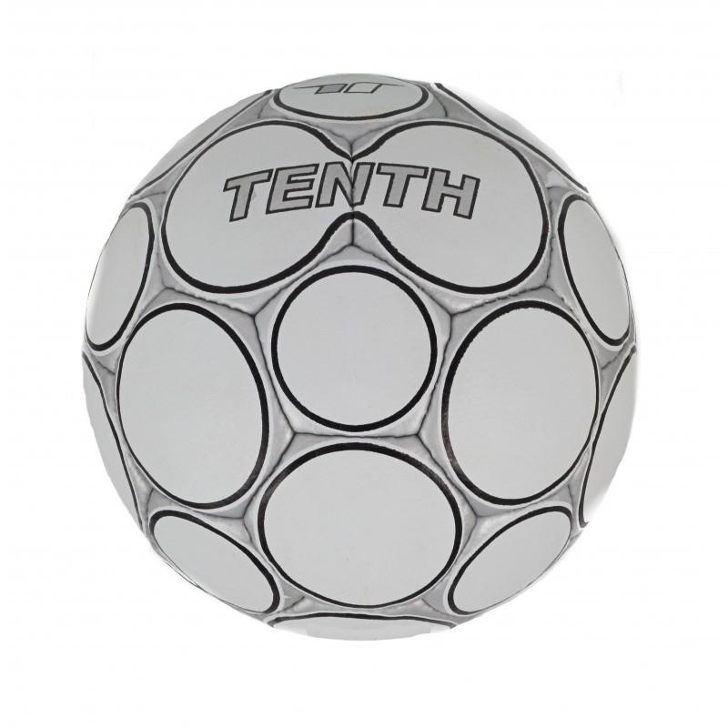 Футболна топка Tenth бяла/сива