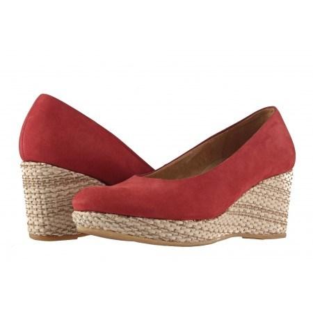 Дамски обувки на платформа Gabor червени 4261048