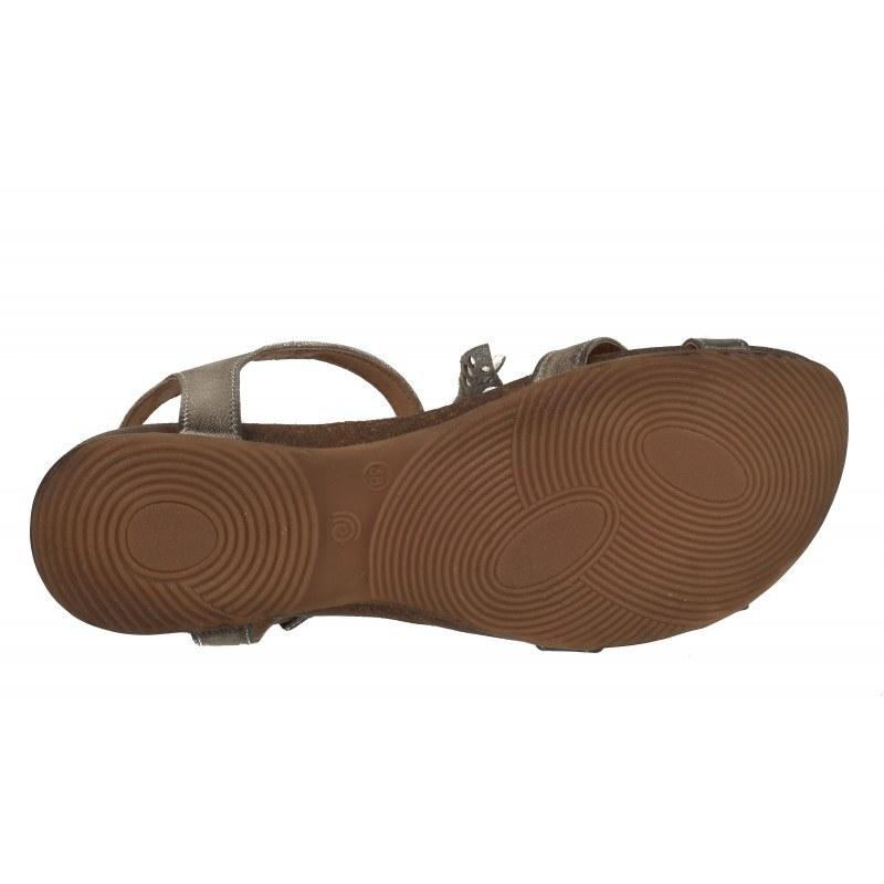 Дамски равни анатомични сандали от естествена кожа Indigo бежови