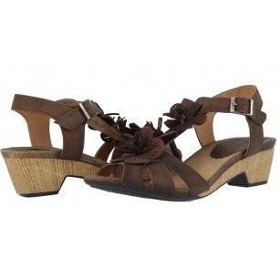 Дамски сандали от естествена кожа Indigo кафяви