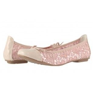 Дамски обувки балерина Jana Soft Line дантела/розови