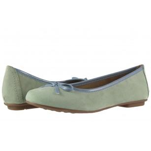 Дамски обувки балерина Jana минт
