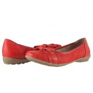 Дамски обувки балерина Jana червени
