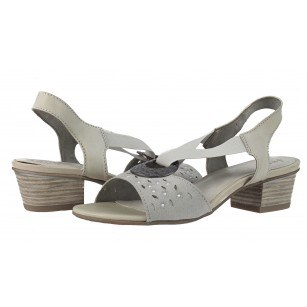 Дамски сандали на ток Jana сиви