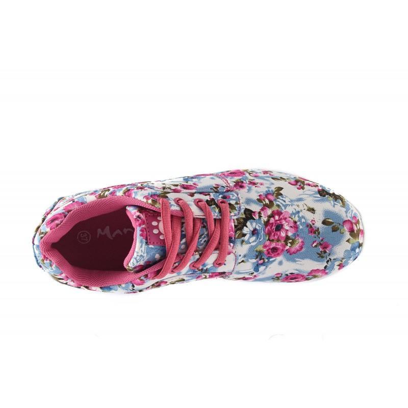 Дамски маратонки Mania бели на цветя 1577521