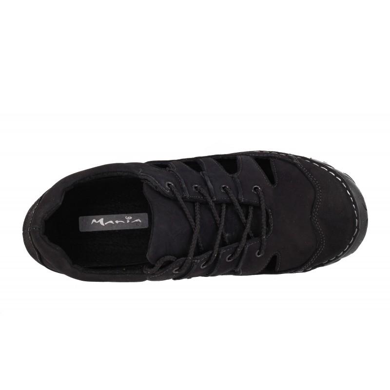Мъжки сандали Mania естествена кожа черни