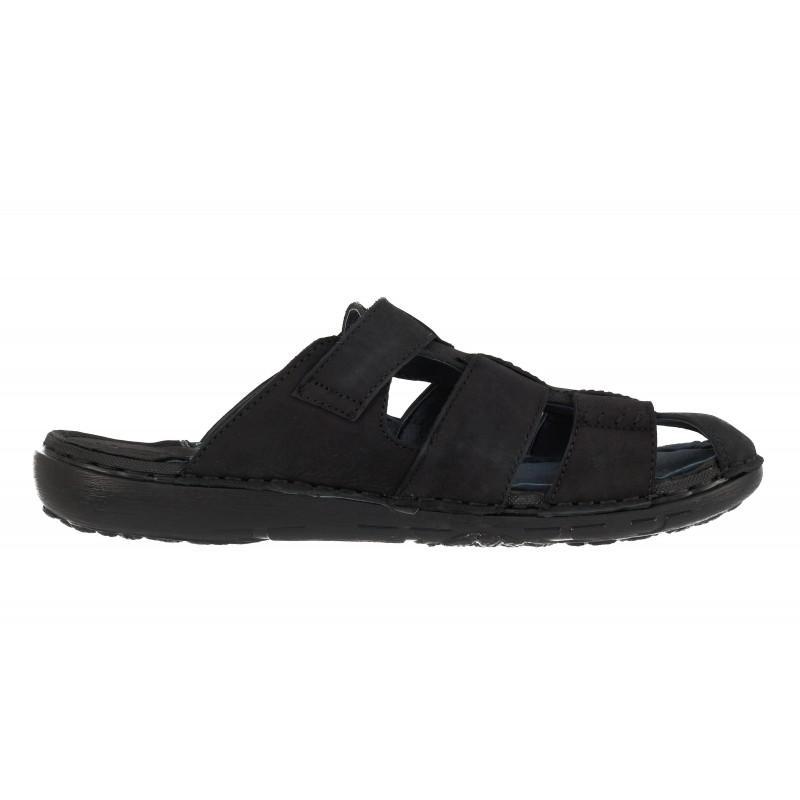 Мъжки чехли Mania естестествена кожа черни