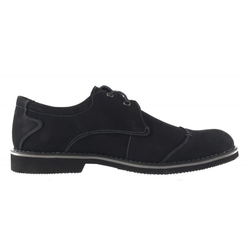 Мъжки обувки с връзки Mania черни 1501001