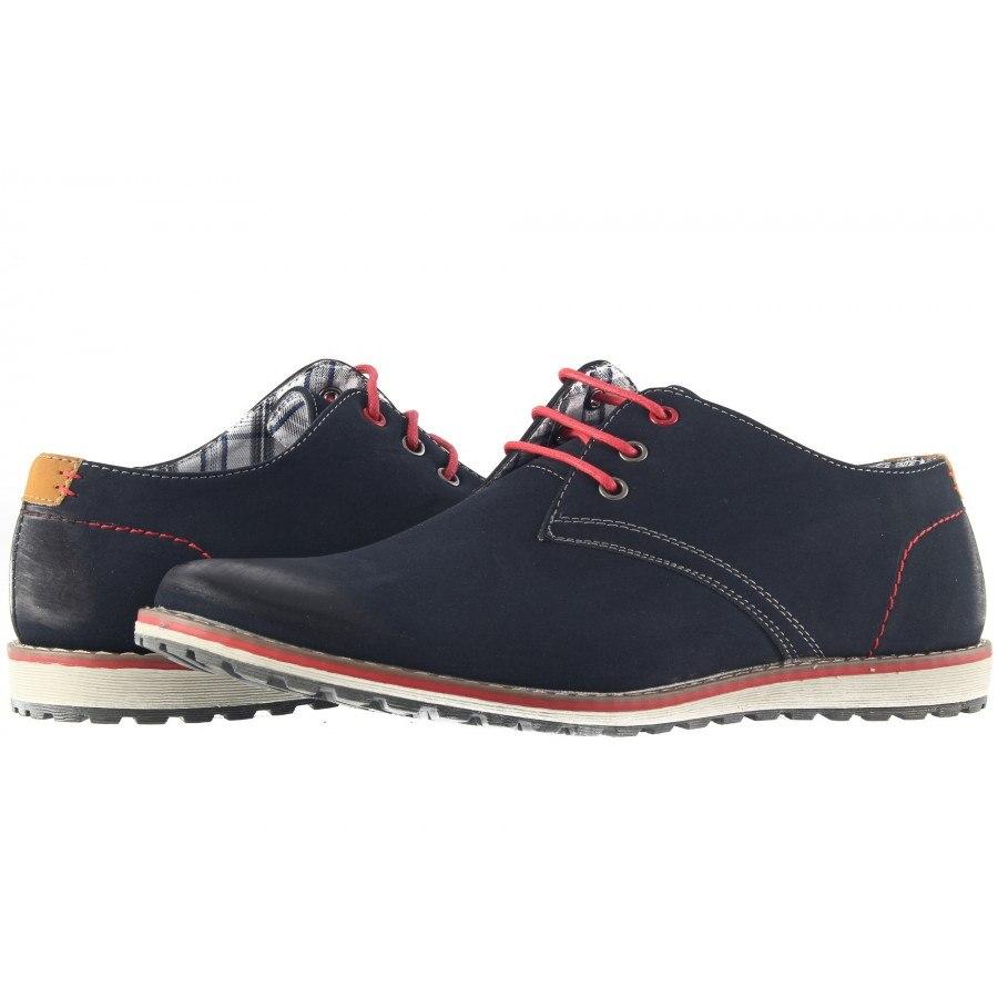 Мъжки обувки с връзки Mania сини navy 293805