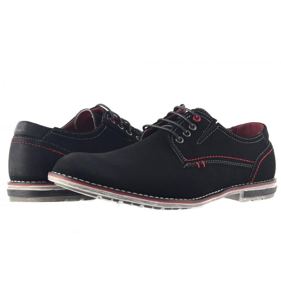 Мъжки обувки с връзки Mania черни 296001