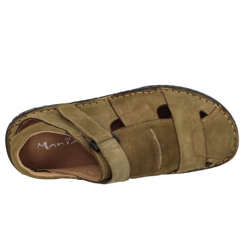Мъжки сандали Mania естествена кожа каки