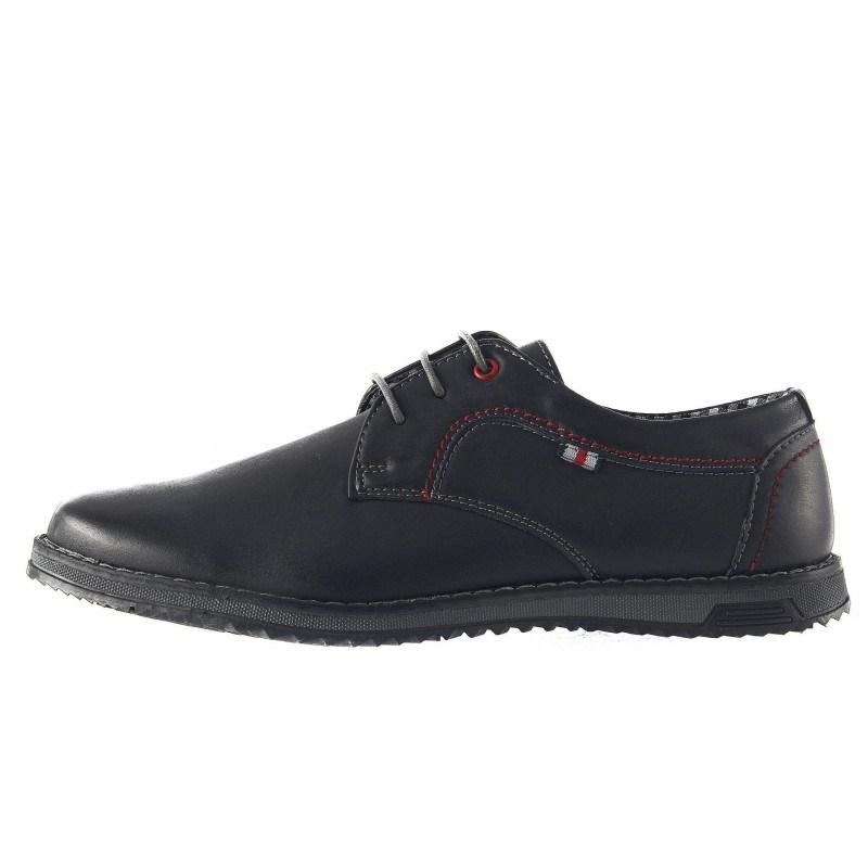 Мъжки обувки с връзки Mania черни 317001