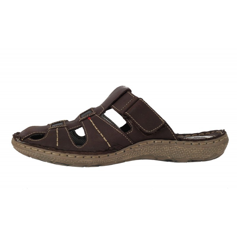 Мъжки затворени чехли естествена кожа Mercury кафяви