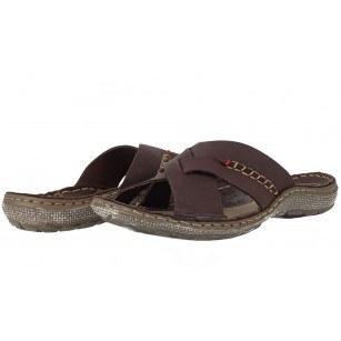 Мъжки чехли естествена кожа Mercury кафяви