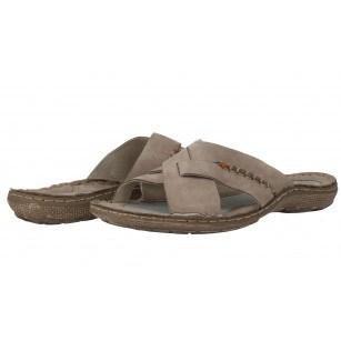 Мъжки чехли естествена кожа Mercury бежови
