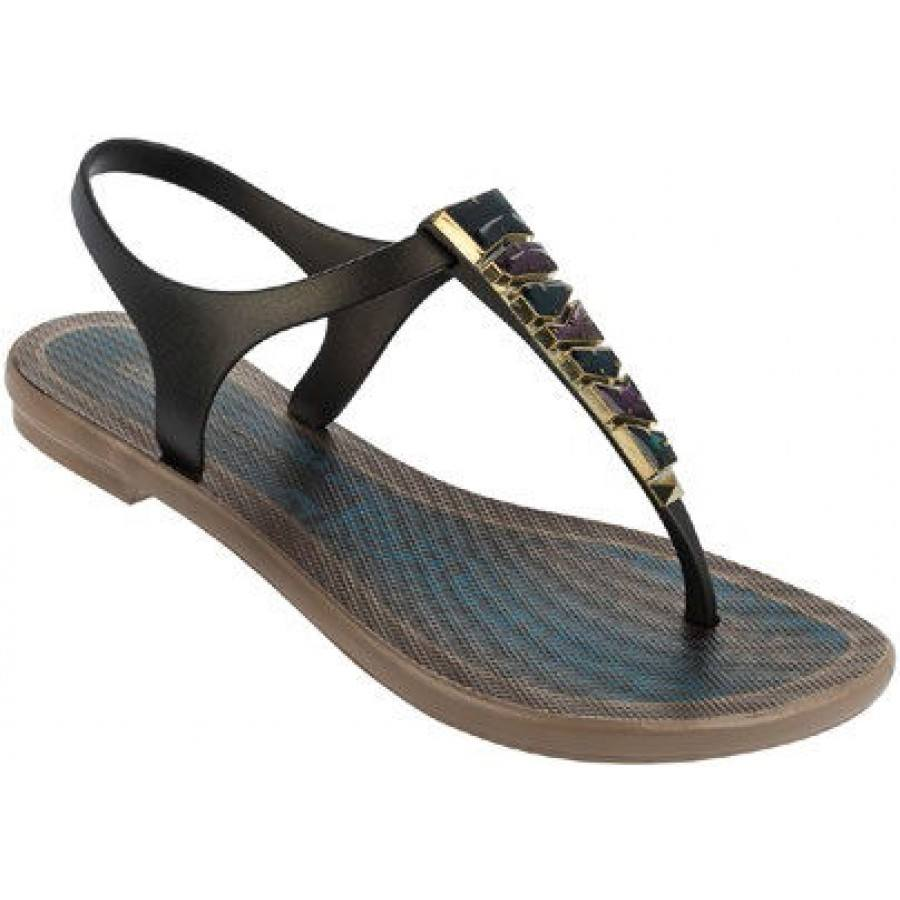 Дамски равни сандали Grendha JEWEL черни