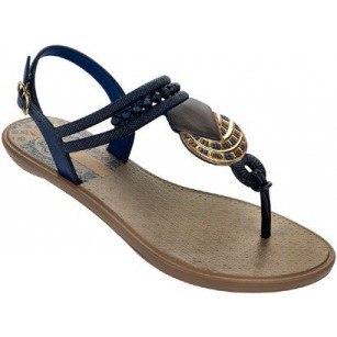 Дамски равни сандали Grendha TRIBAL сини